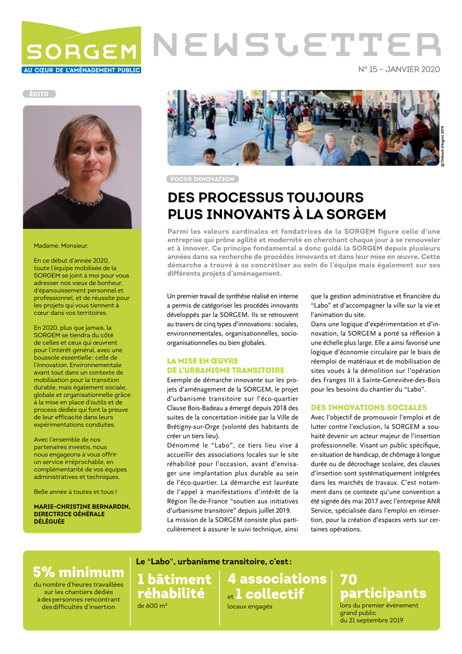 Newsletter SORGEM N°22, jan 2020